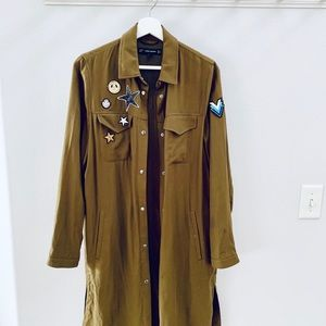 zara military trench coat